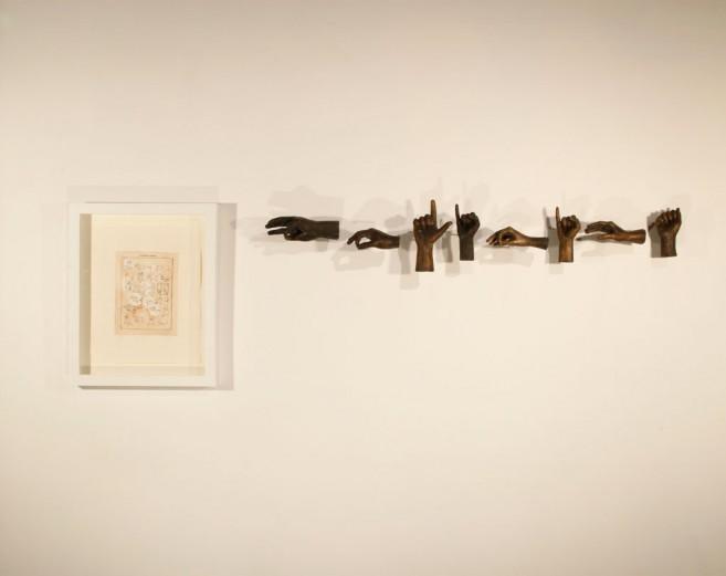 Abstinencia (política), 2011 / Bronce fundido y grabado / Dimensiones variables
