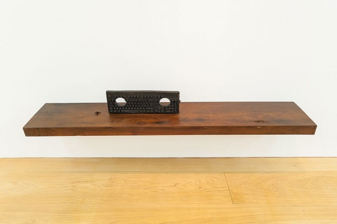 Stocks, 2012 / Bronze and wood / 22 x 170 x 32 cm