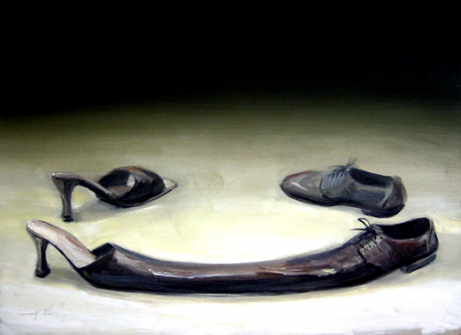 Married, 2004 / Mixed media on canvas / 70 x 100 cm