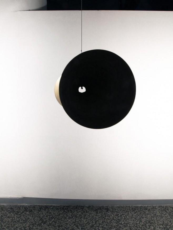 Dialogusfobia (un nudo en la garganta), 2011 / Bronce / 30 cm de diámetro x 79 cm