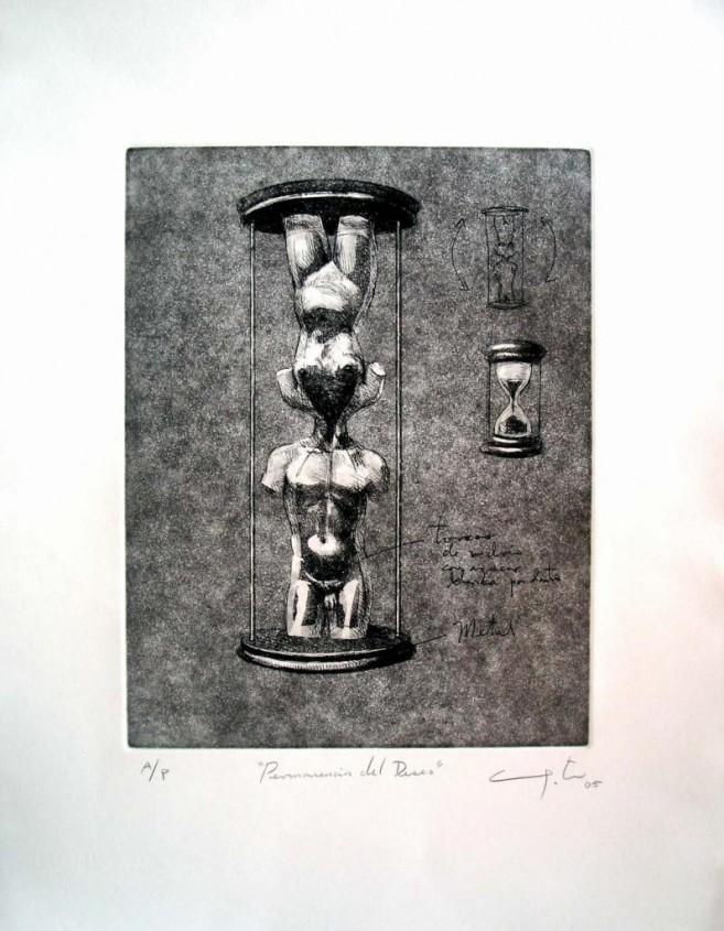 Permanencia del deseo, 2005 / Punta seca, aguantina y aguafuerte/Cartulina / 51 x 40,5 cm