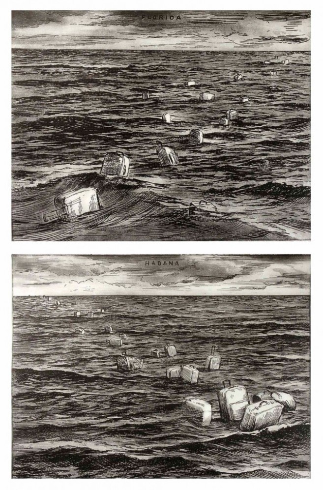 Round Trip, 2000 / Etching, dry point aquatint on paper / 24,5 x 32 each plate