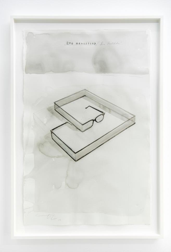Dos Realidades, 2015 / Acuarela sobre cartulina / 102 x 66 cm