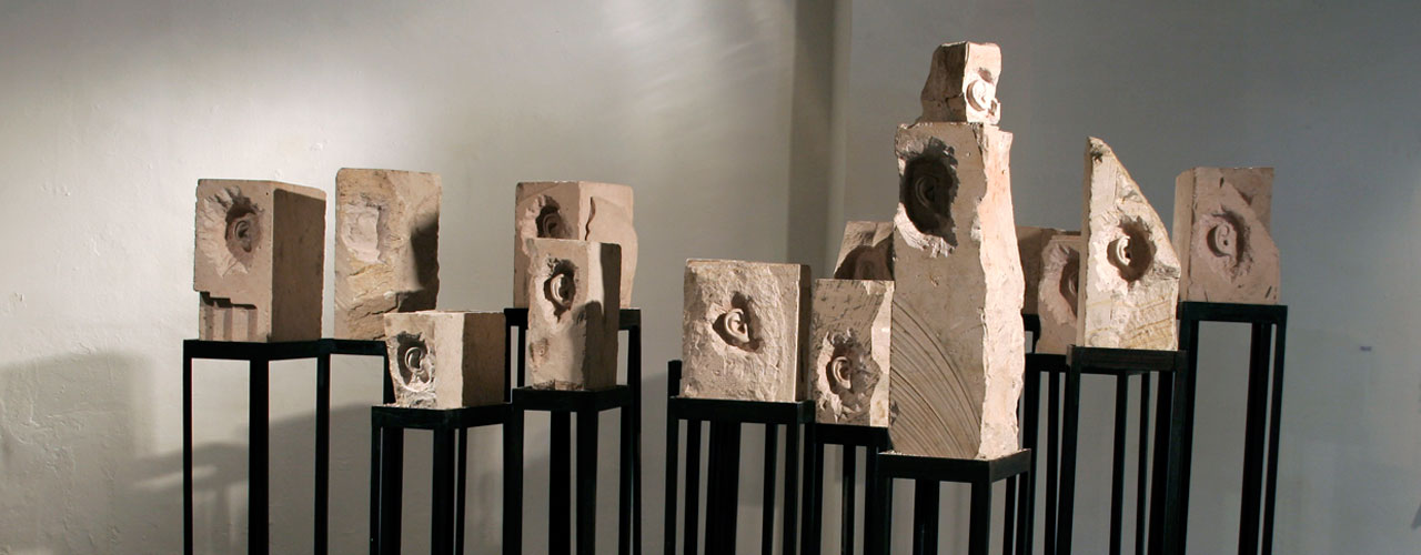 Mass Portrait (lot), 2007-2008 / Carved stone and metal / Variable dimensions