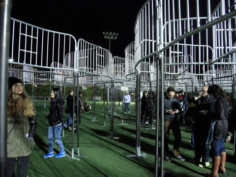 Open mind (barricades), 2014 / interacción con el público