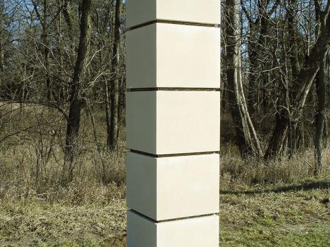 Stress, 2004 / Concreto y bronce fundido / 250 x 60 x 60 cm / Lincoln, Nebraska, USA