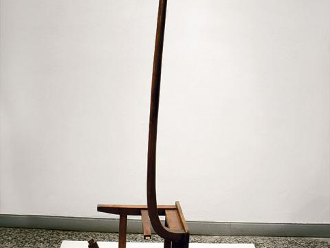 Erection, 2002-2008 / Wood / 210 x 105 x 52 cm