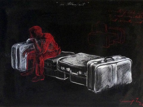 In tran/sit dibujo, 2002 / Mixta / cartulina