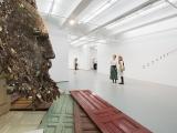 Inmanencia, 2015 (detalle) / Bisagras, puertas de madera y  metal / 305 x 457 x 457 cm ( Dimensiones variables )