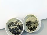Laboratorio (embudo), 2012 / gelatin silver prints on a pair of porcelain urinals / variable dimensions